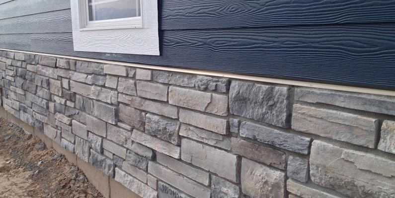 Stone exterior alternative options signature exteriors for Stone facade siding