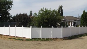 Vinyl Fence with Gothic Fence Cap