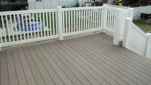 Vinyl Pool Fence as Deck Railing