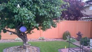 Premium Woodgrain Vinyl Fence
